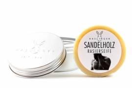 Rasierseife Sandelholz von Haslinger in der Dose - Bild vergrößern