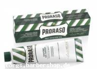 PRORASO-Rasier-Creme, grüne Verpackung Rasierseife aus der Tube