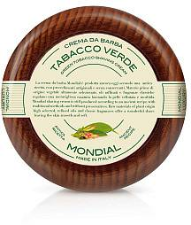 Mondial Rasiercreme 140 ml im Holztiegel, Tabacco verde - Produktbild