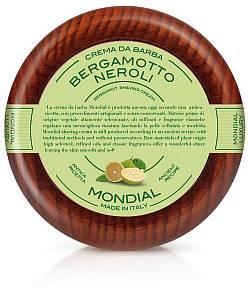 Mondial Rasiercreme 140 ml im Holztiegel, Bergamotto neroli - Produktbild