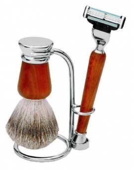 Rasierset mit feinem Dachshaar und Gillette-Mach3-Rasierer - Bild vergrößern
