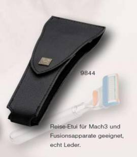 Reise Etui (Echt Leder) für Rasierer (Mach3 und Fusion) - Bild vergrößern