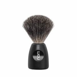 Rasierpinsel LASSE Kunststoff, schwarz mit feinem Dachshaar - Bild vergrößern