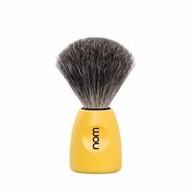 Rasierpinsel LASSE Kunststoff, lemon mit feinem Dachshaar - Bild vergrößern