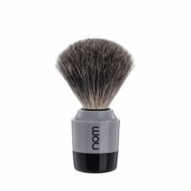 Rasierpinsel MARTEN, grey/black mit feinem Dachshaar - Bild vergrößern