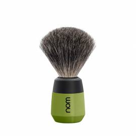 Rasierpinsel MAX, oliv-schwarz mit Dachshaar - Bild vergrößern