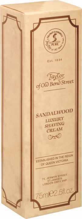 Rasiercreme (Tube 75ml) Sandelholz von Taylor of Old Bond Street