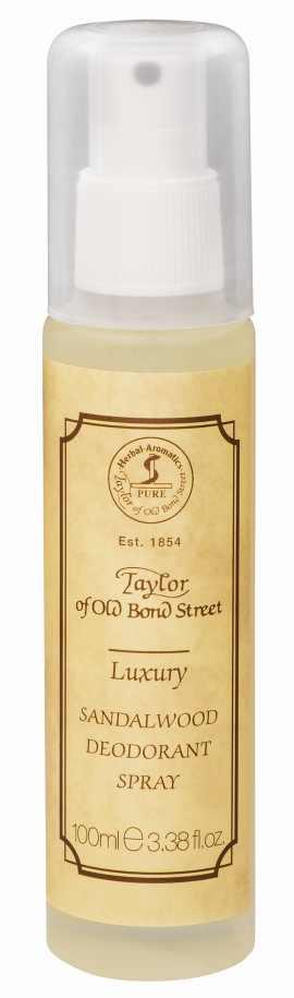 Luxus  Sandalwood Deodorant Spray, 100 ml von Taylor of Old Bond Street