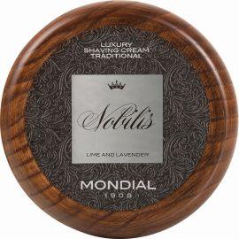 Mondial Luxury Shaving Cream Traditonal -Nobilis-, 140 g Wooden Bowl