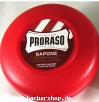 Rasierseife von Proraso, (rote Serie) 150 ml